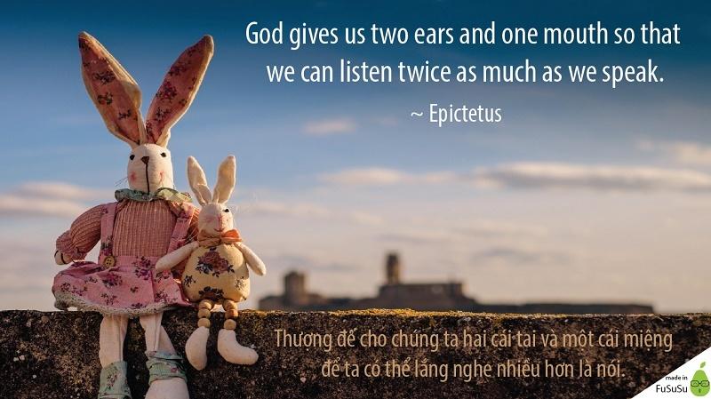 hai tai là để lắng nghe, bí quyết giao tiếp tốt