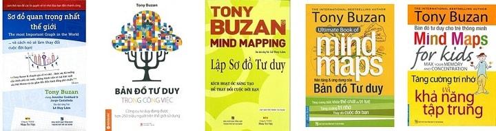 các sách về sơ đồ tư duy của Tony Buzan
