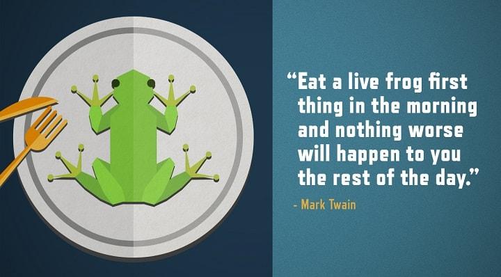 bí quyết thành công là ăn con ếch mỗi sáng