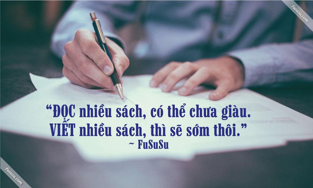 cách viết sách và giàu có