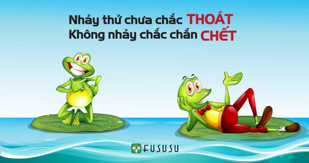 Câu chuyện về tư duy tích cực: Hai con ếch ngồi đáy hố!